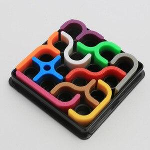 Image 3 - Créatif 3D Intelligence Puzzle fou courbe Sudoku Puzzle jeux géométrique ligne matrice Puzzle jouets pour enfants apprentissage jouet cadeau