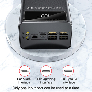 Power Bank 50000 mAh Tragbare Ladegerät LED Licht Poverbank Power 50000 mAh Externe Batterie Für iPhone Xiaomi Samsung Huawei