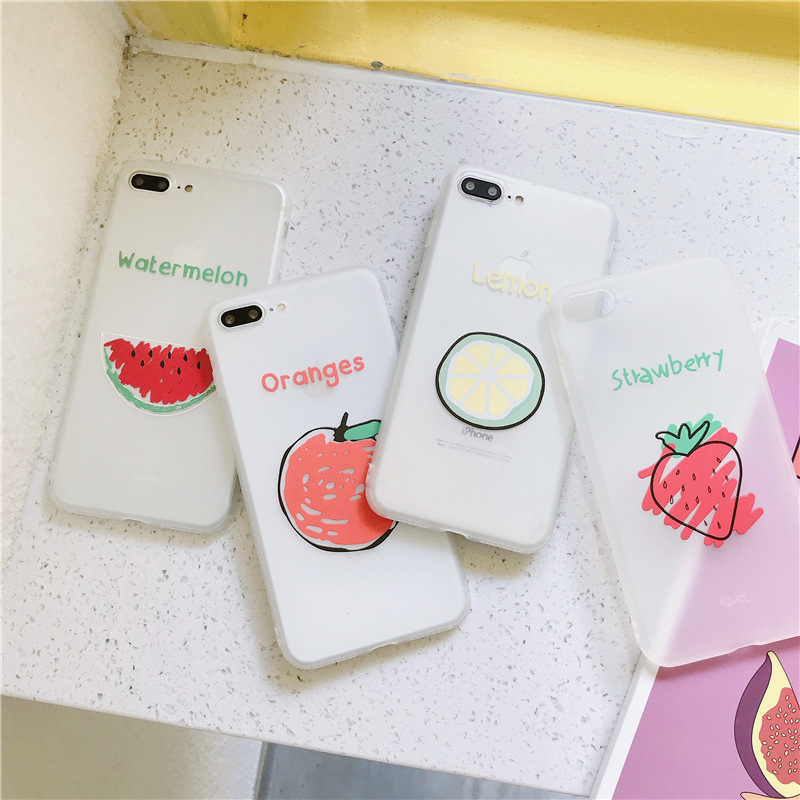 Case for Scrub Candy-Color 8-Plus Fashion Summer Cute Simple TPU 6S Soft Xs Max New 7