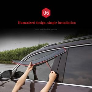 Image 4 - 4Pcs Car Window Visor Door Rain Sun Shield Side Windows Cover Trim Auto Accessories For Volkswagen Teramont