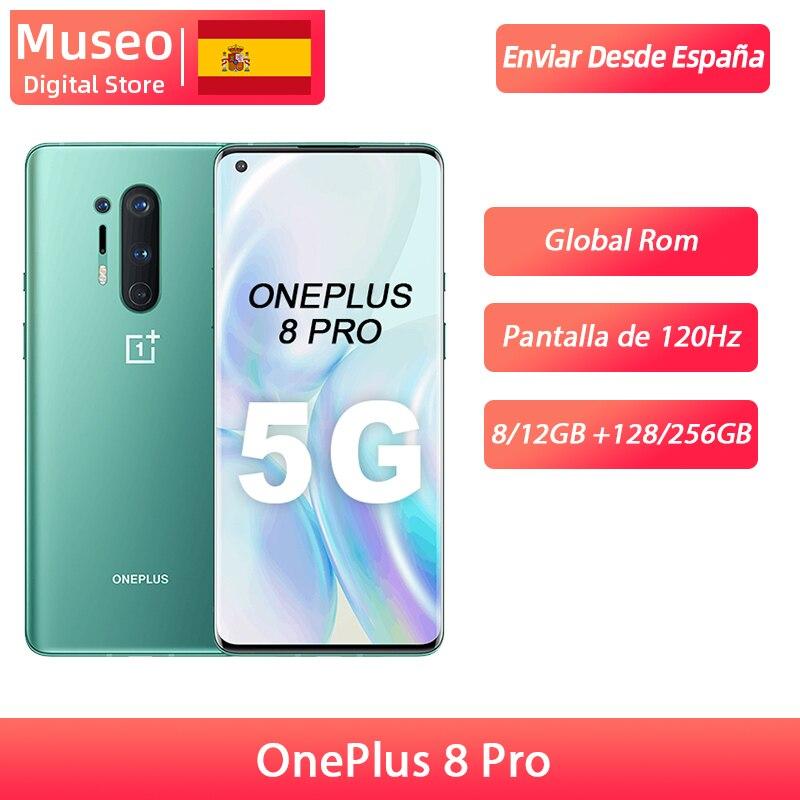 Globale Rom Oneplus 8 Pro 5G Smartphone Snapdragon 865 6.87 ''120Hz Flüssigkeit Display 48MP Quad Kameras IP68 30W Drahtlose Lade