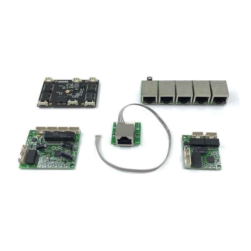 Unmanaged 5port 10/100M Industrial Ethernet Switch Module Motherboard Ethernet PCBA Board OEM Auto-sensing Ports