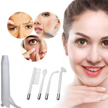 4 In 1 High Frequency Electrode Glass Tube Skin Care Spot Acne Remover Facial Beauty Machine high frequency machine handheld high frequency skin tightening acne spot wrinkles remover beauty therapy puffy eyes facial care