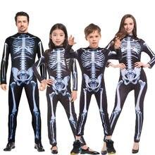 Umorden cadılar bayramı karnaval parti kostüm aile korkunç şeytan şeytan kafatası iskelet kostümleri tulum erkekler kadınlar çocuklar için erkek kız