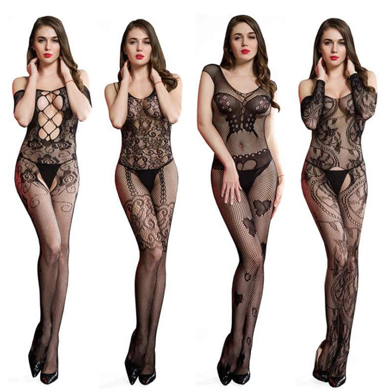 Porn Sex Underwear Women Hot Erotic Transparent Bodysuit Sexy Teddy Lingerie Open Crotch Fishnet Bodystockings Sexy Costumes