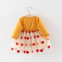 Baby Dresses Long Sleeved Love Print Clothing