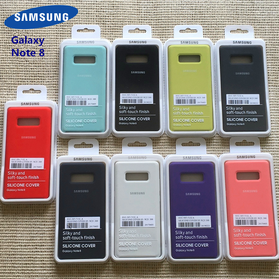 Samsung Galaxy Note 8 Case Silky Soft-touch Liquid Silicone Shell Cover Original Case for Galaxy Note 8 With Retail Box