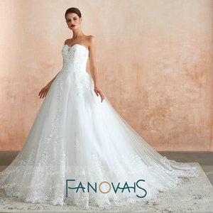 Image 3 - סטרפלס תחרה חתונה שמלות 2019 Vintage קו כלה שמלת Vestido דה novia gelinlik Robe דה Mariee