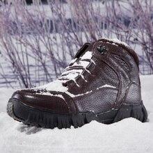 Мужские ботинки на меху; сезон осень-зима; коллекция года; теплые зимние ботинки; мужские повседневные сапоги; Рабочая обувь; Мужская обувь; Модные ботильоны