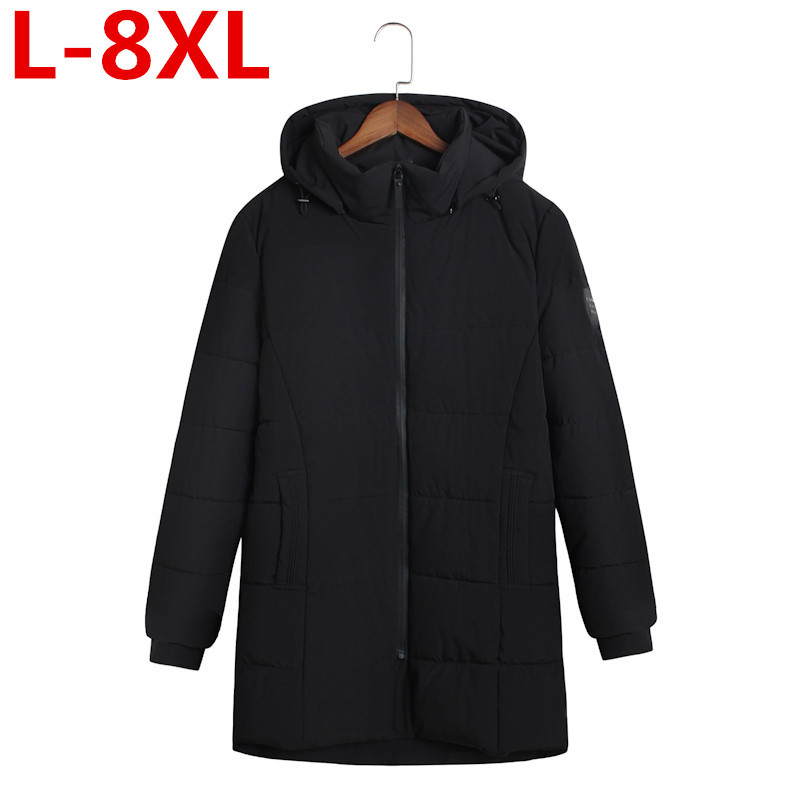 High Quality  8XL Brand Winter Jacket Thicken Cotton-Padded Hooded Men Warm Outwear Jacket Coats Mens Jackets Clothes Plus Size