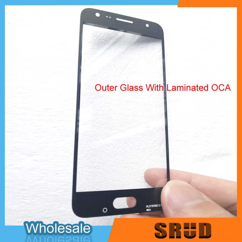 5 قطعة/الوحدة استبدال LCD الجبهة الزجاج الخارجي مع OCA مغلفة لسامسونج غالاكسي j4 J4 + J4 زائد J415 J400 j400F J415F J415DS