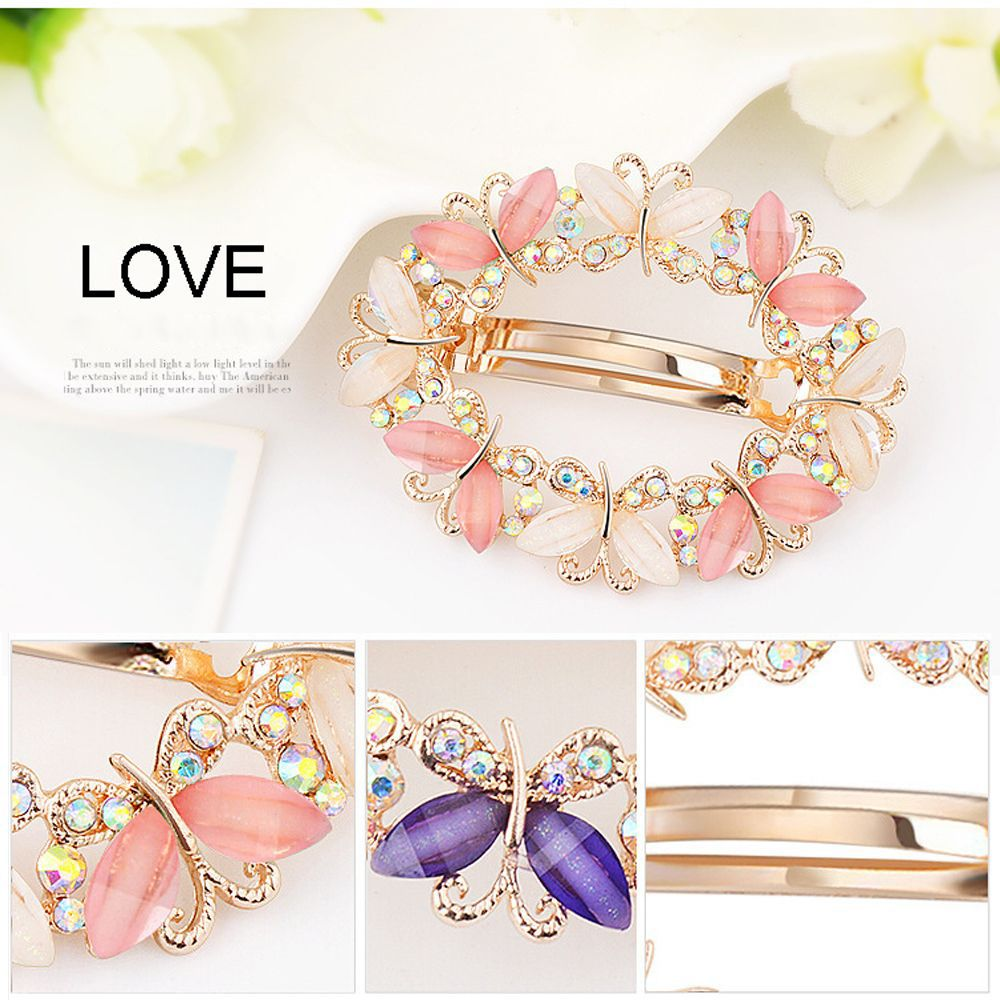 1PC Crystal Rhinestone Hair Clips For Women Girls Flower Butterfly Barrettes Clamp Hairpins Brooch Hair Styling Tool New Arrival