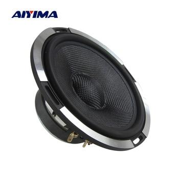 AIYIMA 1PCS 6.5 Inch Audio Car Midrange Bass Speaker 4 Ohm 300W Aluminum Carbon Fiber Woofer Loudspeaker HIFI Speaker Newest