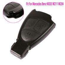 3 botões nova substituição remoto chave fob caso para mercedes benz c e ml classe alarme capa do carro chave escudo w203 w211 w204 #278635