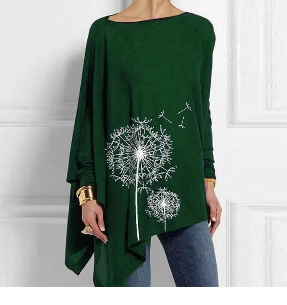 Cotton Irregular Womens Tops And Blouses Casual O Neck Long Sleeve Top Female Tunic 2019 Autumn Spring Plus Size Women's Blouse Had655fc874124bdbb95777dd600e0f81I