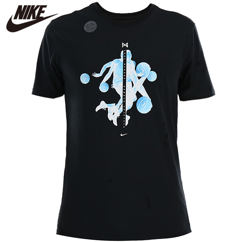 Original <font><b>Nike</b></font> Shirt PG1 QS TEE Black Quick-dry <font><b>Tshirts</b></font> Comfort clothing New Arrival image