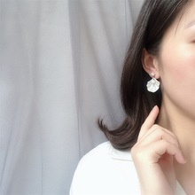 Fashion Shell Stud Earrings Temperament Simple Imitation Pearl for Women Sexy Summer Holiday Gift
