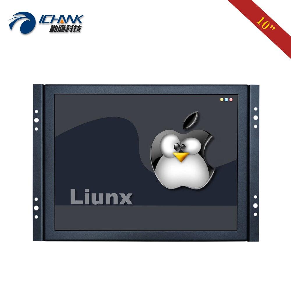 "ZK100TC-59L/10 ""zoll 800x600 HDMI USB Metall Fall Embedded Open Rahmen Unterstützung Linux Ubuntu Raspbian Debian touchscreen PC Monitor"