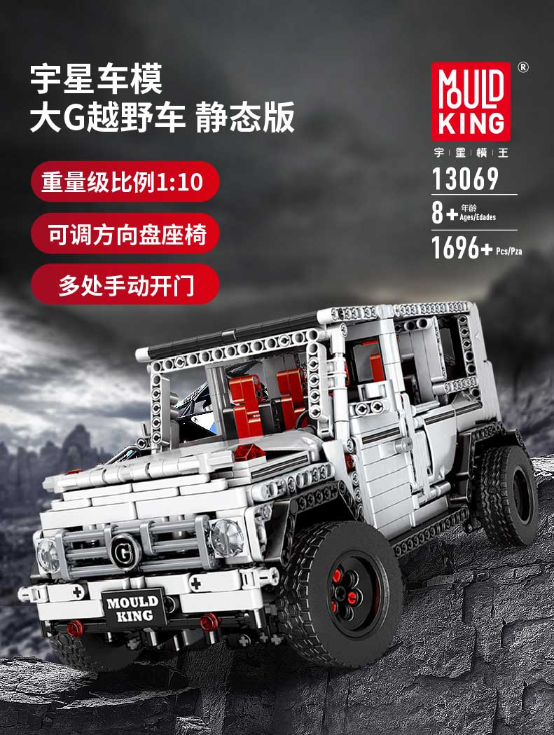 MOULD KING MOC 20100 Compatible 13070 Technic Benz SUV G500 AWD Wagon Offroad Vehicle 2 Building Block 1
