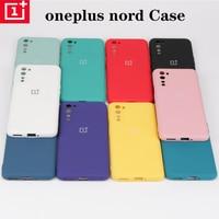 Oneplus-funda de silicona líquida para Oneplus Nord 8T, carcasa trasera suave y delgada, Original, para One plus 8pro, one plus, Nord 8T, 10 colores