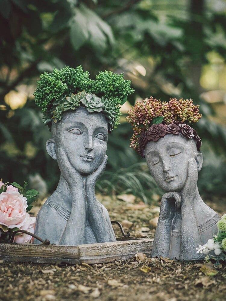 Мини-статуя для сада