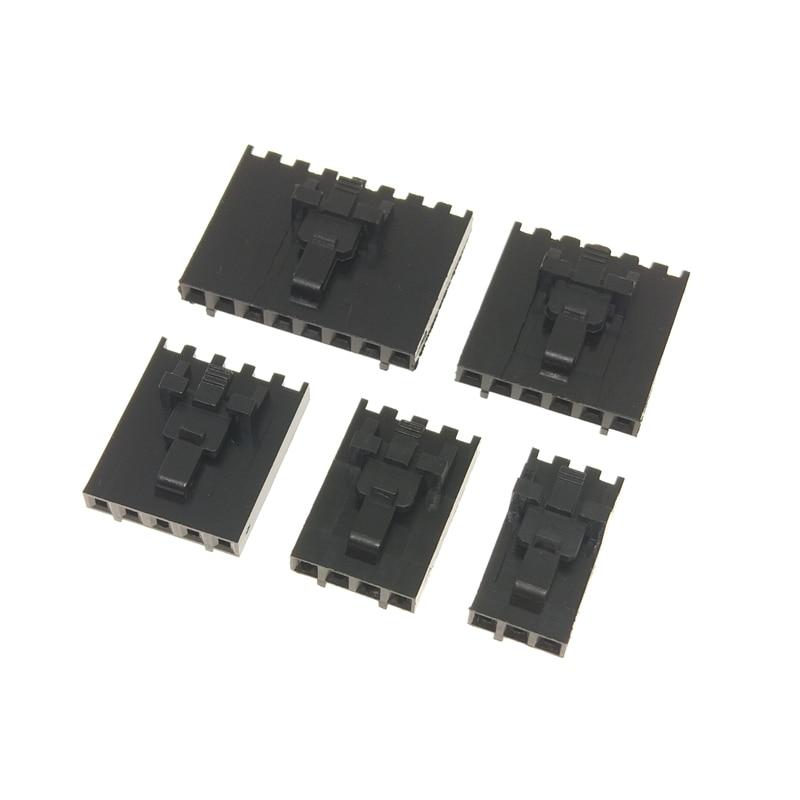 Conector do dupont do passo de 10 pces mx2.54 2.54mm com o único alojamento a2543 2p 3p 4p 5p 6p 7p 8p da fileira da curvatura