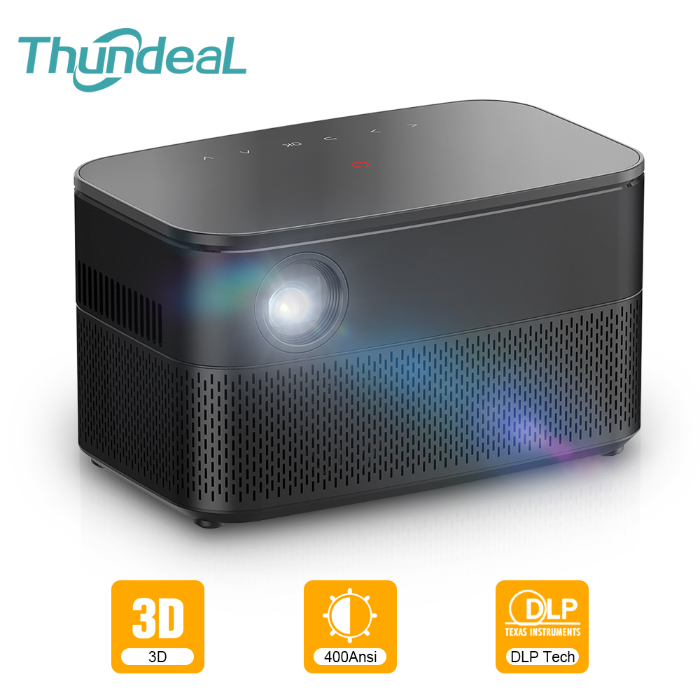 ThundeaL T616 Real Active 3D DLP Projector Android WiFi Smartphone Mini Projector Portable DLP LED Proyector Smart Home Cinema image