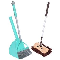 Zestaw narzędzi do czyszczenia Mini dla dzieci  3 szt. Zawiera kompletny uroczy mały Mop  małą miotłę  małą szufelkę dla dzieci w Miotły i śmietniczki od Dom i ogród na