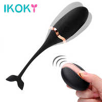 IKOKY Vibrating Egg Remote Control Vibrators Sex Toys for Women Exercise Vaginal Kegel Ball G-spot Massage USB Rechargeable