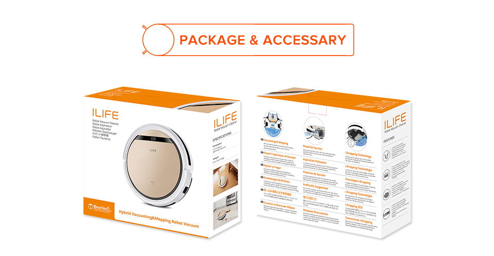 Had65e14e549b4427884448c89df69396V ILIFE V5sPro Robot Vacuum Cleaner vacuum Wet Mopping Pet hair and Hard Floor automatic Powerful Suction Ultra Thin disinfection