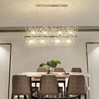 Manggic Modern LED Light Crystal Chandelier Hanging Lamp Dandelion Chandelier Lighting for Living Room Dining Decoration