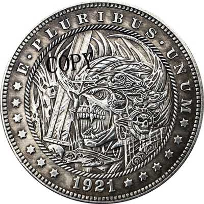 Hobo Nikkel 1921-D Vs Morgan Dollar Munt Copy Type 173