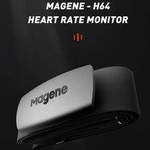 Magene двигатель H64 монитор сердечного ритма Bluetooth датчик муравьев с нагрудным ремнем двойной режим компьютер велосипед Wahoo Garmin BT спортивный ре...