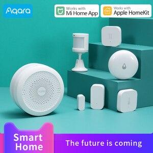 Image 1 - Aqara Temperatuur Vochtigheid Sensor Zigbee Sluit Voor Xiaomi Smart Home Deur Raam Sensor Menselijk Lichaam Sensor Werken Met Aqara Hub