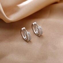 Neue Mode Mini Gold Ohrring Top Qualität CZ Kristall clssic Charme 925 Silber Ohrringe Für Frauen Mädchen Schmuck Geschenk 2021