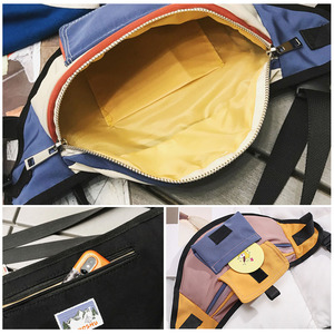 Image 5 - Mode taille sac Fanny Pack unisexe poitrine sacs rue Style banane sac Hip Packs toile matériel pratique paquet sac à main