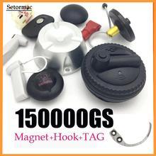 Magnetic Detacher 15000GS Universal Security Tag Remover1pcs+1 Hook Detacher Super Key Detacher For EAS  Systems