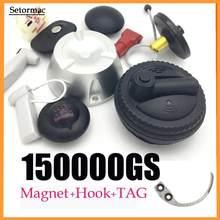 Separador magnético de 15000GS para sistemas EAS, removedor de etiquetas de seguridad Universal, 1 unidad + 1 separador de ganchos