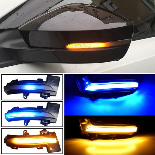 LED الديناميكي بدوره مصباح إشارة لسكودا اوكتافيا Mk3 A7 5E مرآة الرؤية الخلفية مصباح الوامض مؤشر ل VW T roc Troc T cross