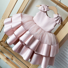 Dresses Cascading Girls Sleeveless Royal Communion Bow Skin First-Holy