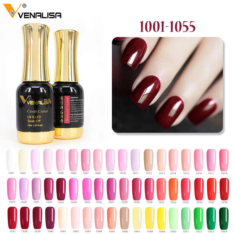 #60751 Venalisa Gel Polandia 111 Warna Emas Botol Tahan Lama Salon Mantel Warna Rendam Off UV & LED 12ml Kuku Gel Polandia