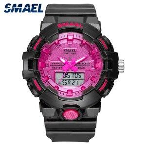 Image 1 - Spor İzle kadınlar reloj mujer su geçirmez 30M kronometre çalışan saat alarmı 8025 siyah saatler instagram bayanlar kol saatleri yeni