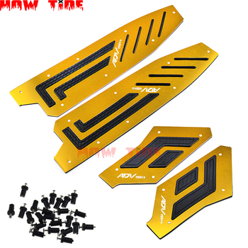 Motorcycle CNC Accessories Modified Foot Pegs Plates Footrest Step Pads Footpads for ADV 150 Adv150 2019 2020