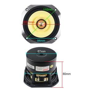 Image 5 - Ghxamp 4 inch Full Range Speaker 4ohm 25W Hifi Full Frequency Loudspeaker HomeTheatre 91DB Bullet Rubber Edge Cast Aluminum 1pc