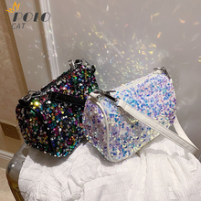 Luxury Sequin Woman Crossbody Bags 2020 High Quality Brand Women Handbags Famous Designer Female Messenger Bag Shoulder Bags luxury handbags women bags designer pu leather woman shoulder messenger bags famous brand ladies crossbody bags wholesale price