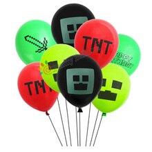 """15 шт. 1"""" Pixelated Red TNT воздушный шар игра латексные шарики для вечеринки день рождения игрушки-украшения для детей Globos"""