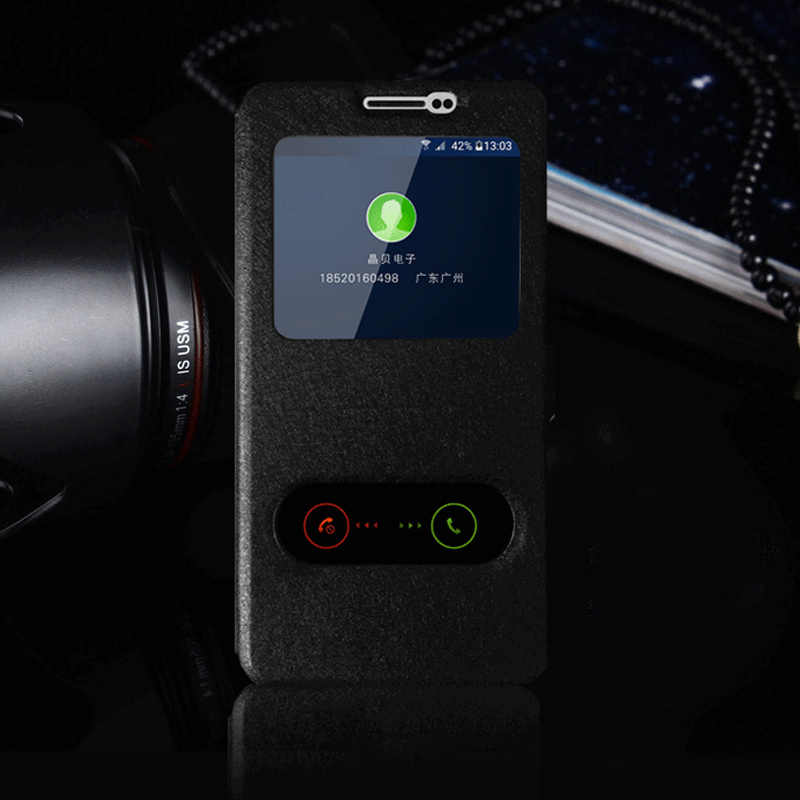 Чехол-бумажник для samsung J2 2018 быстрое окошко для просмотра ответа кожаный флип-чехол для телефона для samsung Galaxy J2 Pro 2018 J250F J250