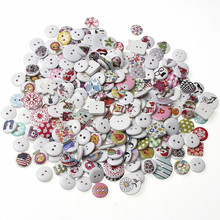 Sewing-Accessories Buttons Clothing Craft Scrapbooking 2-Holes Wood for Diy 20/50/100-mixed