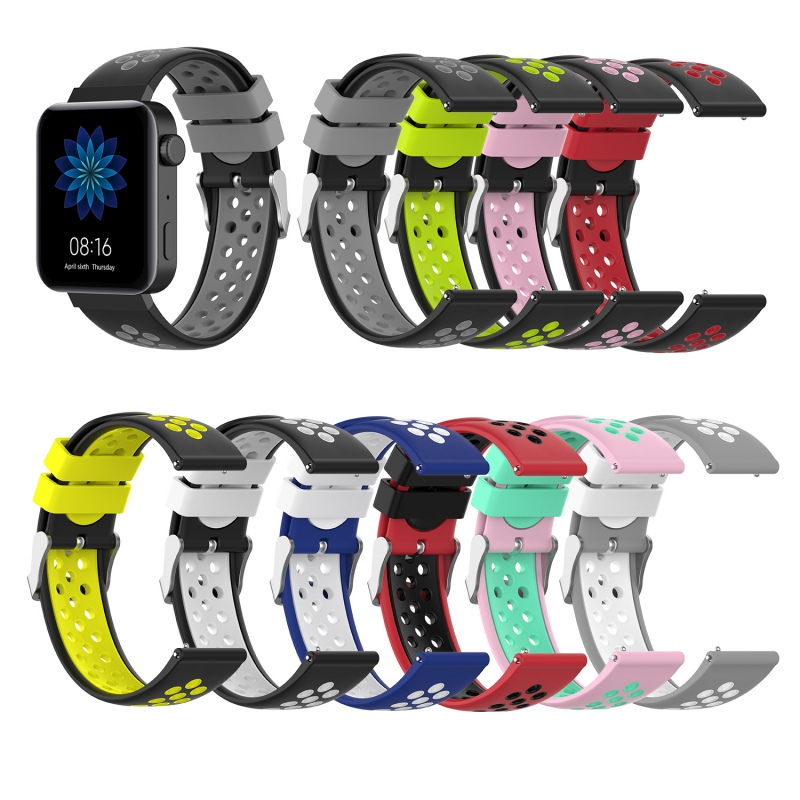 18mm Silicone Watchband Strap For Xiaomi Mi Smart Watch Band Bracelet Sport Replacement Wristband Colorful Replace