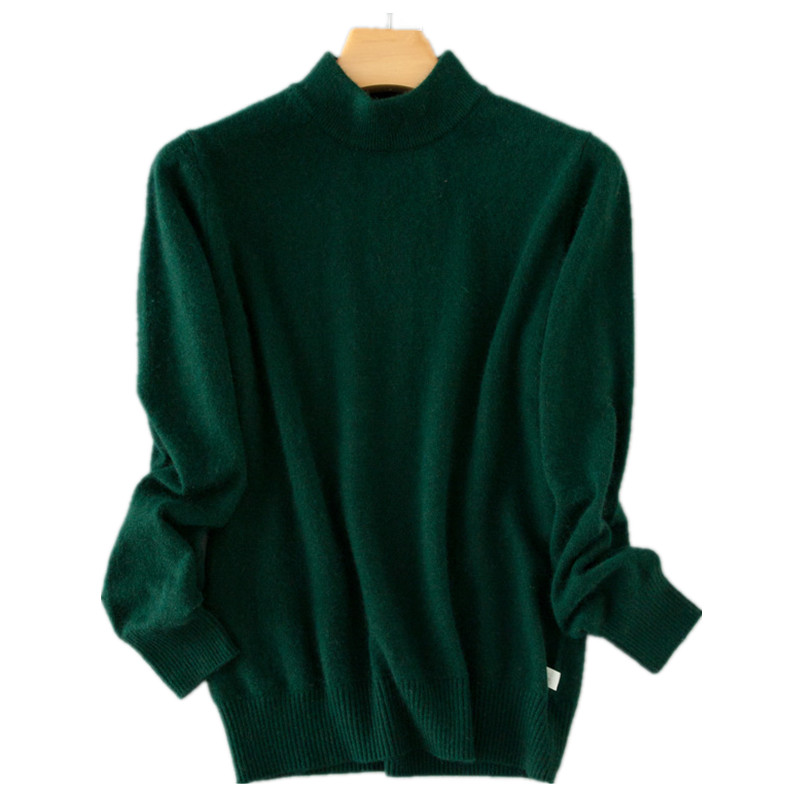 Cashmere Green Turtleneck Lady's Sweater Plus Size Women Pullovers Black Female Sweater Casual Women Jumper Winter Pull Femme